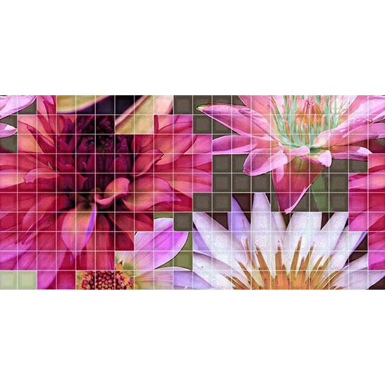 Декор Crema Flor 1 25x50
