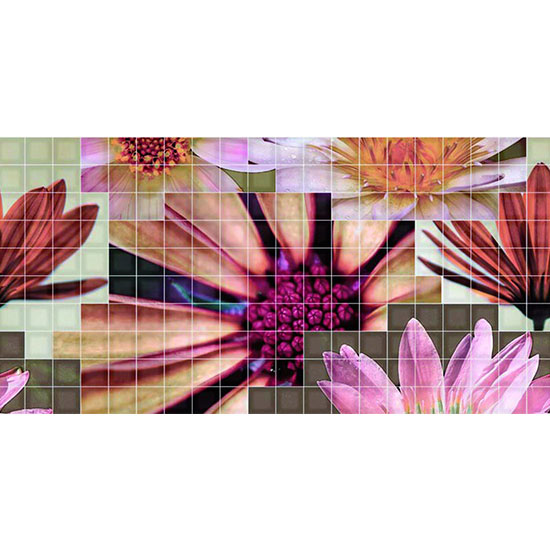 Декор Crema Flor 2 25x50